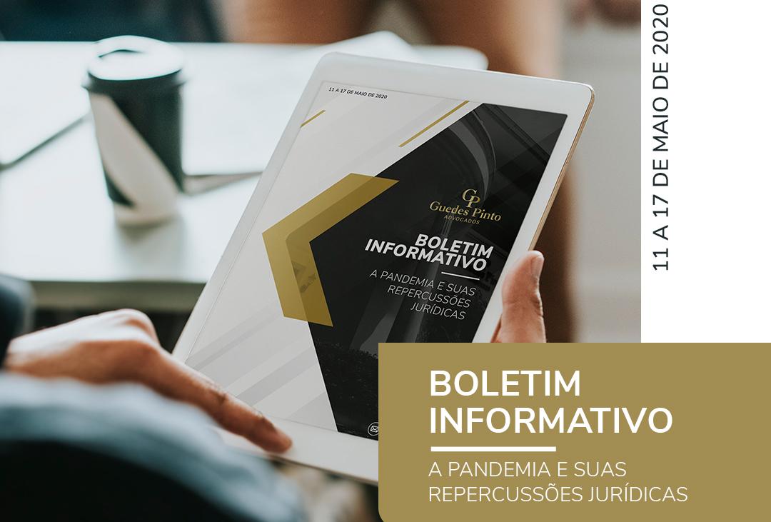 A pandemia e suas repercussões jurídicas – Boletim Informativo 5